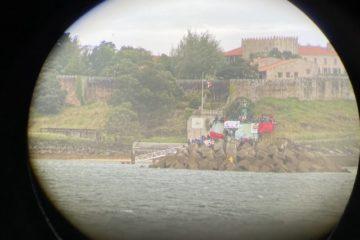 Vista de Baiona, Galiza, Europa